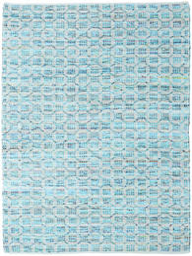 Elna - Bright_Blue Tæppe 140X200 Ægte Moderne Håndvævet Lyseblå/Turkis Blå (Bomuld, Indien)