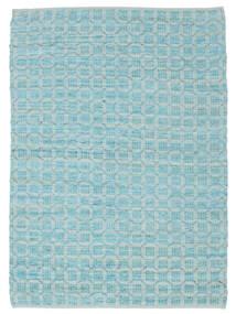 Elna - Bright_Blue Tæppe 170X240 Ægte Moderne Håndvævet Lyseblå/Turkis Blå (Bomuld, Indien)
