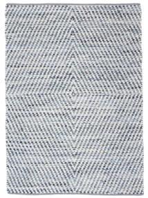 Hilda - Denim/Hvid Tæppe 170X240 Ægte Moderne Håndvævet Beige/Lyseblå (Bomuld, Indien)