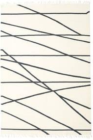 Cross Lines - Råhvid/Sort Tæppe 250X350 Ægte Moderne Håndvævet Beige/Hvid/Creme Stort (Uld, Indien)