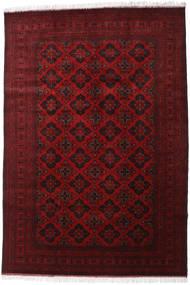 Afghan Khal Mohammadi Tæppe 200X293 Ægte Orientalsk Håndknyttet Mørkerød/Rød (Uld, Afghanistan)