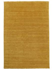 Handloom Fringes - Gul Tæppe 160X230 Moderne Orange/Lysebrun (Uld, Indien)