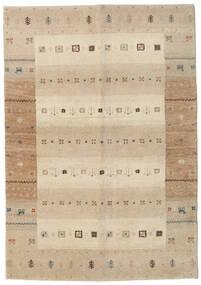 Gabbeh Indisk Tæppe 138X198 Ægte Moderne Håndknyttet Tæppeløber Beige/Lysegrå (Uld, Indien)