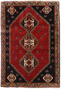Ghashghai Tæppe 115X169 Ægte Orientalsk Håndknyttet Sort/Mørkerød (Uld, Persien/Iran)