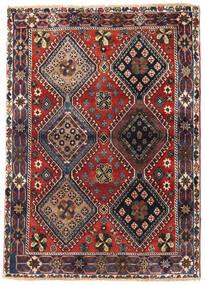 Yalameh Tæppe 115X162 Ægte Orientalsk Håndknyttet Mørkebrun/Mørkerød (Uld, Persien/Iran)