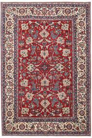 Yazd Patina Tæppe 200X300 Ægte Orientalsk Håndknyttet Lysegrå/Mørkerød (Uld, Persien/Iran)