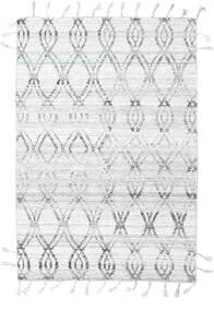 Pet Yarn Kelim Tæppe 164X240 Ægte Moderne Håndvævet Lysegrå/Hvid/Creme ( Indien)