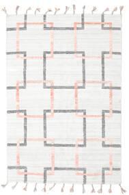 Pet Yarn Kelim Tæppe 157X233 Ægte Moderne Håndvævet Hvid/Creme/Beige ( Indien)