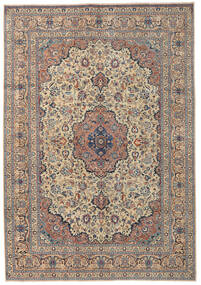 Kashmar Patina Tæppe 250X355 Ægte Orientalsk Håndknyttet Lysebrun/Mørkegrå Stort (Uld, Persien/Iran)