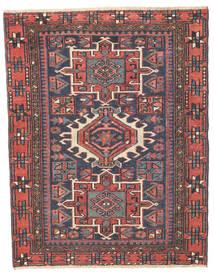 Heriz Patina Tæppe 96X123 Ægte Orientalsk Håndknyttet Mørkegrå/Rust (Uld, Persien/Iran)