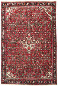 Hamadan Patina Tæppe 135X202 Ægte Orientalsk Håndknyttet Mørkebrun/Rød (Uld, Persien/Iran)