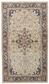 Kerman Patina Tæppe 116X200 Ægte Orientalsk Håndknyttet Beige/Lysegrå (Uld, Persien/Iran)
