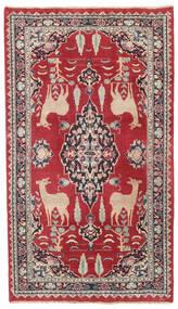 Mashad Patina Tæppe 104X182 Ægte Orientalsk Håndknyttet Rød/Mørkegrå (Uld, Persien/Iran)