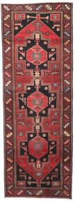 Hamadan Patina Tæppe 102X287 Ægte Orientalsk Håndknyttet Tæppeløber Mørkerød/Sort (Uld, Persien/Iran)