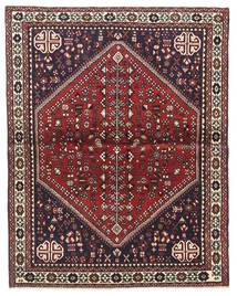 Abadeh Tæppe 100X128 Ægte Orientalsk Håndknyttet Mørkebrun/Mørkerød (Uld, Persien/Iran)