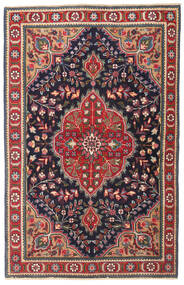 Tabriz Patina Tæppe 98X150 Ægte Orientalsk Håndknyttet Mørkegrå/Mørkerød (Uld, Persien/Iran)