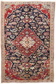 Yazd Tæppe 145X220 Ægte Orientalsk Håndknyttet Mørkelilla/Mørkerød (Uld, Persien/Iran)