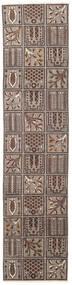 Bakhtiar Patina Tæppe 70X305 Ægte Orientalsk Håndknyttet Tæppeløber Lysegrå/Mørkebrun (Uld, Persien/Iran)