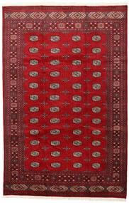Pakistan Bokhara 2Ply Tæppe 202X312 Ægte Orientalsk Håndknyttet Rød/Mørkerød (Uld, Pakistan)