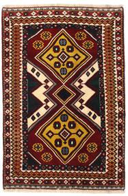 Ghashghai Tæppe 127X190 Ægte Orientalsk Håndknyttet Mørkerød (Uld, Persien/Iran)