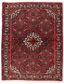 Hamadan Tæppe 113X142 Ægte Orientalsk Håndknyttet Mørkerød/Mørkebrun (Uld, Persien/Iran)