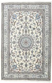 Nain Tæppe 198X304 Ægte Orientalsk Håndknyttet Lysegrå/Beige (Uld, Persien/Iran)
