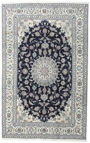 Nain Tæppe 200X308 Ægte Orientalsk Håndknyttet Mørkegrå/Lysegrå (Uld, Persien/Iran)