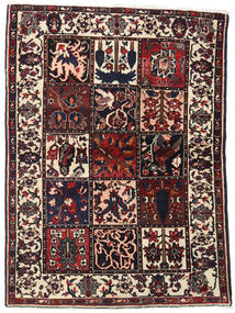 Bakhtiar Tæppe 110X151 Ægte Orientalsk Håndknyttet Mørkebrun (Uld, Persien/Iran)