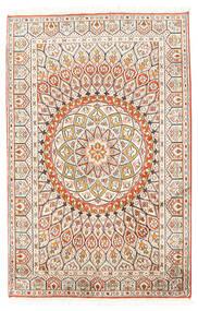 Kashmir Pure Silke Tæppe 80X124 Ægte Orientalsk Håndknyttet Beige/Lysegrå (Silke, Indien)