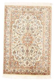 Kashmir Pure Silke Tæppe 65X94 Ægte Orientalsk Håndknyttet Beige (Silke, Indien)