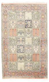 Kashmir Pure Silke Tæppe 94X154 Ægte Orientalsk Håndknyttet Lysegrå/Beige (Silke, Indien)