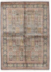 Kashmir Pure Silke Tæppe 155X214 Ægte Orientalsk Håndknyttet Lysegrå/Brun (Silke, Indien)