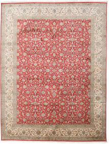 Kashmir Pure Silke Tæppe 245X320 Ægte Orientalsk Håndknyttet Lysegrå/Lysebrun (Silke, Indien)
