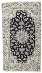 Nain Tæppe 118X210 Ægte Orientalsk Håndknyttet Lysegrå/Mørkegrå (Uld, Persien/Iran)