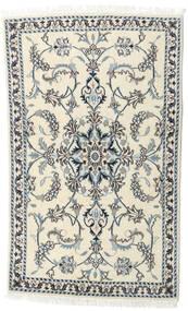 Nain Tæppe 90X143 Ægte Orientalsk Håndknyttet Beige/Mørkegrå (Uld, Persien/Iran)