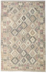 Kelim Afghan Old Style Tæppe 190X301 Ægte Orientalsk Håndvævet Lysegrå (Uld, Afghanistan)