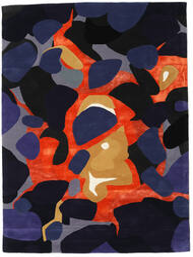 Kulgrå - Grå/Multi Tæppe 160X230 Moderne Mørkelilla/Mørkeblå ( Indien)