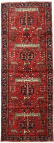 Hamadan Tæppe 105X284 Ægte Orientalsk Håndknyttet Tæppeløber Mørkerød/Rust (Uld, Persien/Iran)