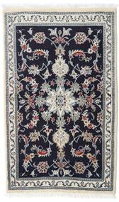 Nain Tæppe 90X147 Ægte Orientalsk Håndknyttet Mørkelilla/Hvid/Creme (Uld, Persien/Iran)