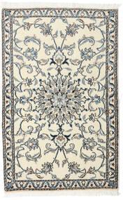 Nain Tæppe 88X140 Ægte Orientalsk Håndknyttet Beige/Mørkegrå (Uld, Persien/Iran)