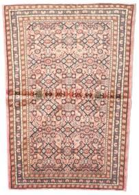 Hosseinabad Tæppe 102X145 Ægte Orientalsk Håndknyttet Lyserød/Lysebrun (Uld, Persien/Iran)