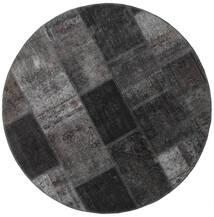 Patchwork - Persien/Iran Tæppe Ø 150 Ægte Moderne Håndknyttet Rundt Mørkegrå/Sort (Uld, Persien/Iran)