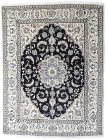 Nain Tæppe 196X253 Ægte Orientalsk Håndknyttet Lysegrå/Mørkegrå (Uld, Persien/Iran)