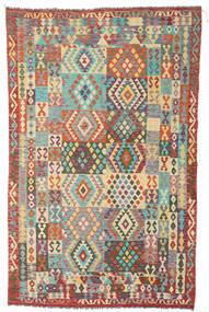 Kelim Afghan Old Style Tæppe 191X305 Ægte Orientalsk Håndvævet Brun/Mørk Beige (Uld, Afghanistan)