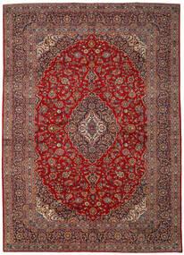 Keshan Tæppe 293X411 Ægte Orientalsk Håndknyttet Mørkerød/Mørkebrun Stort (Uld, Persien/Iran)