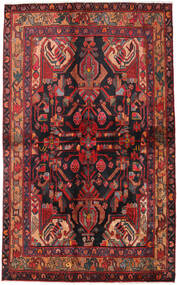 Nahavand Tæppe 135X223 Ægte Orientalsk Håndknyttet Mørkerød/Mørkeblå (Uld, Persien/Iran)