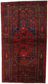 Hamadan Tæppe 132X228 Ægte Orientalsk Håndknyttet Mørkerød (Uld, Persien/Iran)