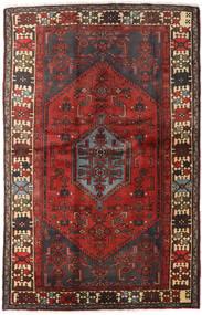 Hamadan Tæppe 127X197 Ægte Orientalsk Håndknyttet Mørkerød/Mørkebrun (Uld, Persien/Iran)