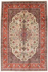 Tabriz Tæppe 194X288 Ægte Orientalsk Håndknyttet Mørkebrun/Lysebrun (Uld, Persien/Iran)