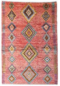 Moroccan Berber - Afghanistan Tæppe 122X179 Ægte Moderne Håndknyttet Lyserød/Rust (Uld, Afghanistan)